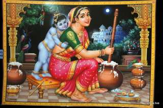 Lord Krishna with Mata Yasoda Beautiful POSTER  11 x 16