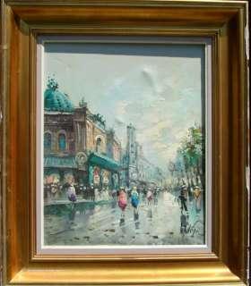 Antonio De Vity b. 1901 Artist Stamp Verso Street Scene
