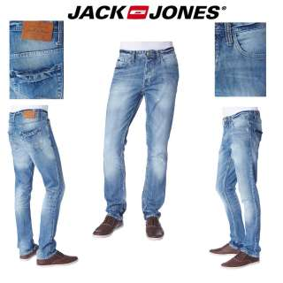 JEANS HOMME JACK AND JONES MODèLE TIM ORIGINAL SLIM FIT BLEU DéLAVé