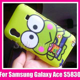 Samsung Galaxy Ace S5830 hard Case cover Green Frog