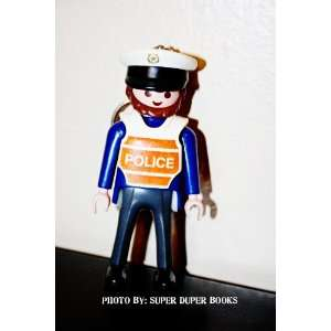 Playmobil Police Officer Brown Hair and Beard Character