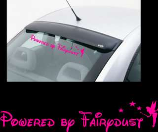 Powered by Fairydust Tinkerbell Car Stickers ANY COLOUR