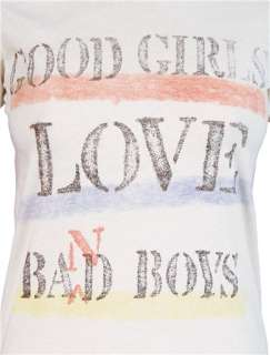 Good Girls Love Bad Boys Womens T Shirt Junk Food New Retro White