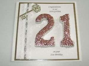 Handmade Personalised Keepsake 21st Birthday Card