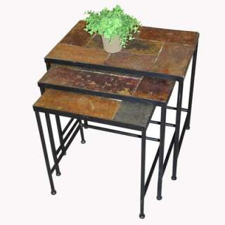 4D Concepts 3 Piece Nesting Tables w/ Slate Tops  Wayfair