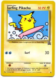 POKEMON • Surfing Pikachu • BLACK STAR PROMO 28