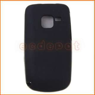 Black Silicone Skin Case Cover for Nokia C3 00 Phone