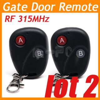 lots 2 RF 315MHz Wireless Electric Garage Gate Door Remote 20m
