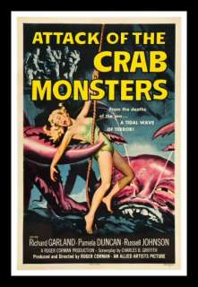 ATTACK OF THE CRAB MONSTERS * HORROR MOVIE POSTER 1957