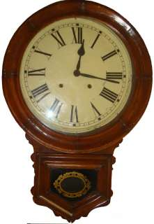 ANTIQUE 1880 ANSONIA USA 8 DAY STRIKING WALL CLOCK. OAK