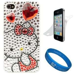 Hello Kitty White Diamond Heart Rhinestone Case for Newest