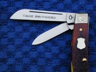 CASE BROS. XX CHESTNUT RUSSELL JIGGED BONE MED CONGRESS MINT SET KNIFE
