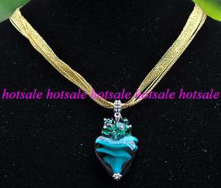 wholesale 24strands crystal heart glass necklaces