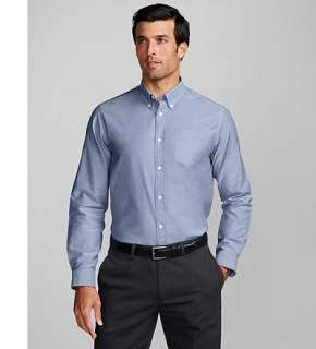 Eddie Bauer Men Shirts Dress Relaxed Fit Wrinkle Free Oxford Cloth