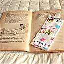 handmade read bookmark in childrens fabric by scamp baby gifts
