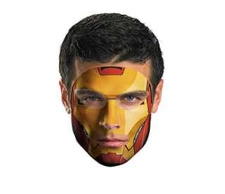 Iron Man Face Tattoo 2010  Costume Tattoos & Body Art  HalloweenMart
