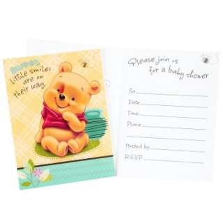 Halloween Costumes Baby Pooh and Friends Baby Shower Invitations (8