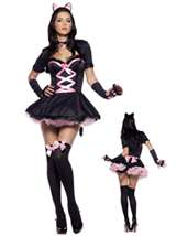 Womens Sexy Sequins Kitty Cat Costume Wholesale Price $52.90 In Stock