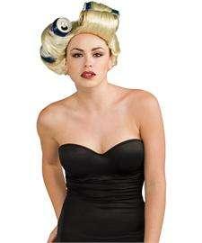Lady Gaga Soda Can Wig  Blond Wig with Soda Can Loops