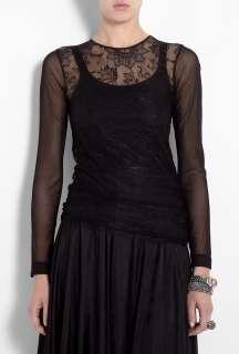 By Malene Birger  Black Bibie Delicate Lace Top by By Malene Birger