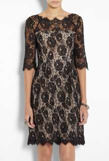 Milly  Celia 3/4 Sleeve Lace Dress by Milly