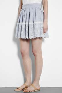 Vanessa Bruno Athe  Blue Broderie Full Skirt by Vanessa Bruno Athé