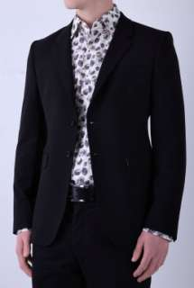 Black Stretch Wool Classic Fit Blazer by PS Paul Smith   Black   Buy