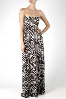 Heidi Klein  Tahoe Strapless Zebra Maxi Dress by Heidi Klein