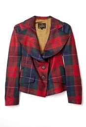 Vivienne Westwood Anglomania  Red Petite Tartan Jacket by Vivienne