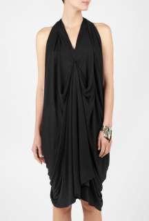 Malene Birger  Black Marene Draped Halter dress by By Malene Birger