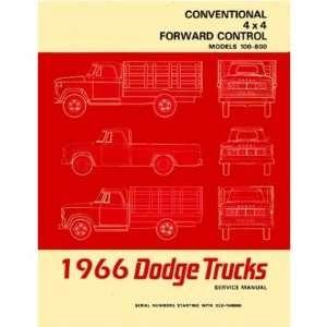 1966 DODGE D/W 100 800 TRUCK Shop Service Repair Manual