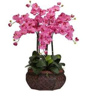 Natural Dark Pink Large Phalaenopsis Silk Flower Arrangement Home