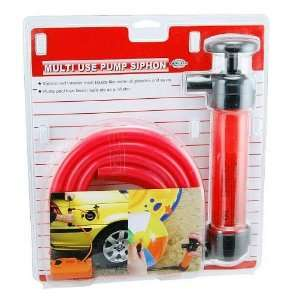 Gasoline Water and Air Siphon Inflation Pump with Hose Automotive