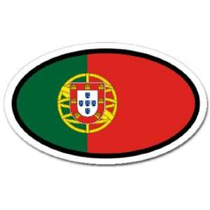 Portugal Portuguese Flag Car Bumper Sticker Decal Oval Automotive