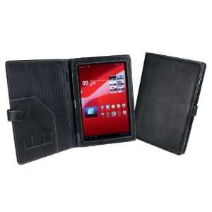 ) 10.1 Tablet Leather Cover Case (Book Style)   Black Electronics