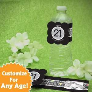 Personalized Custom Birthday Party Water Bottle Labels