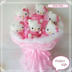 Hello Kitty Flower Gift Set ***6 pink Hello Kitty