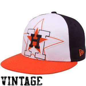 New Era Houston Astros Orange White Black Little Big Pop 9FIFTY