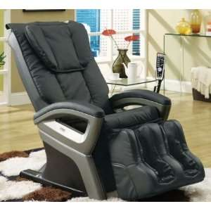 Designed Black Reclining Massage Chair with