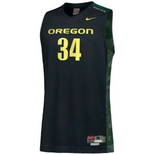 Nike Oregon Ducks #34 Black Twilled Basketball Jersey