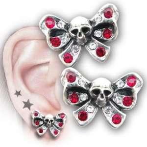 Bow Belles Skull Stud Earrings by Alchemy UL17