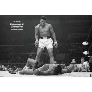 Muhammad Ali vs. Sammy Liston Boxing Poster