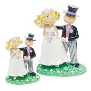 Wedding Cake Topper   Comical Bride Groom   Small (1 Topper