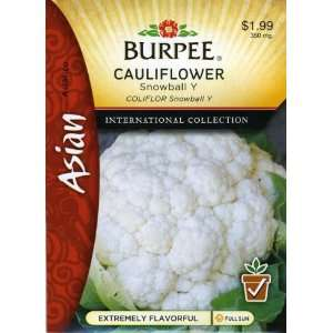 Burpee 69631 Asian   Cauliflower Snowball Y Seed Packet