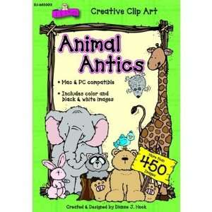 Publications DJ 605002 Animal Antics Clip Art Cd Everything Else