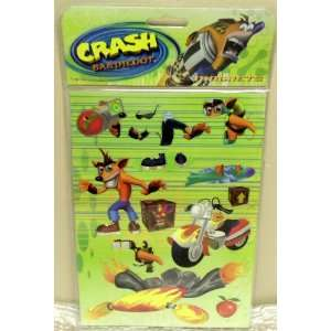 Retired Hard to Find Crash Bandicoot Magnet Sheet Featuring More than
