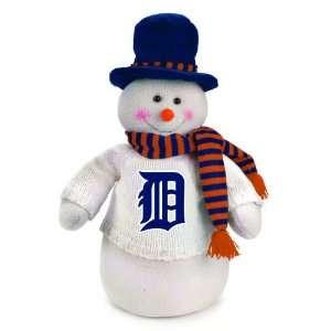 18 MLB Detroit Tigers Plush Dressed for Winter Snowman Christmas