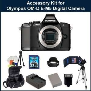 EM 5 Digital Camera, Extended Life Replacement Battery, Rapid Travel