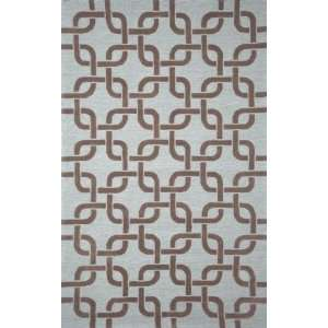 Tufted Area Rug Chains 8 Square Driftwood Carpet: Furniture & Decor