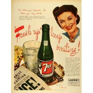 1945 Ad Seven Up Co Soda 7 Up Lemon Lime Flavored Drink Beverage